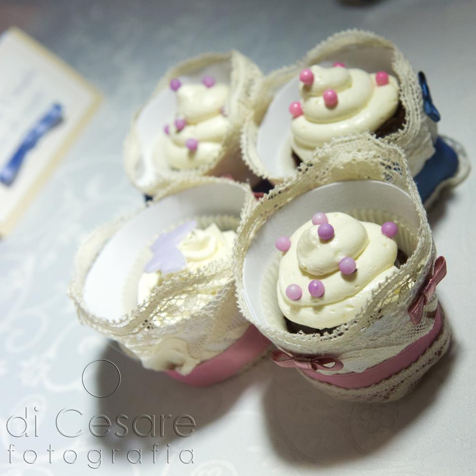 Cup Cakes for wedding shabby
